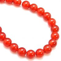 16 Inch Gemstone Red Agate 8mm Round Beads